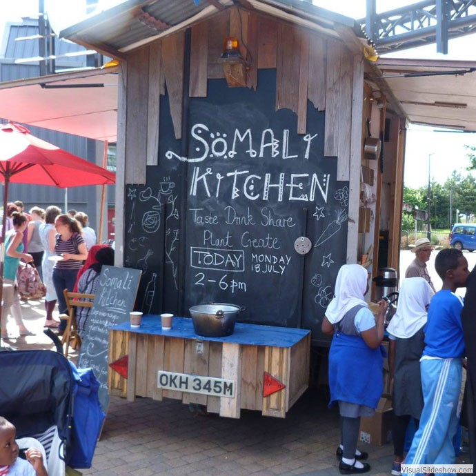 Somali Kitchen Shed on Wheels, Bristol