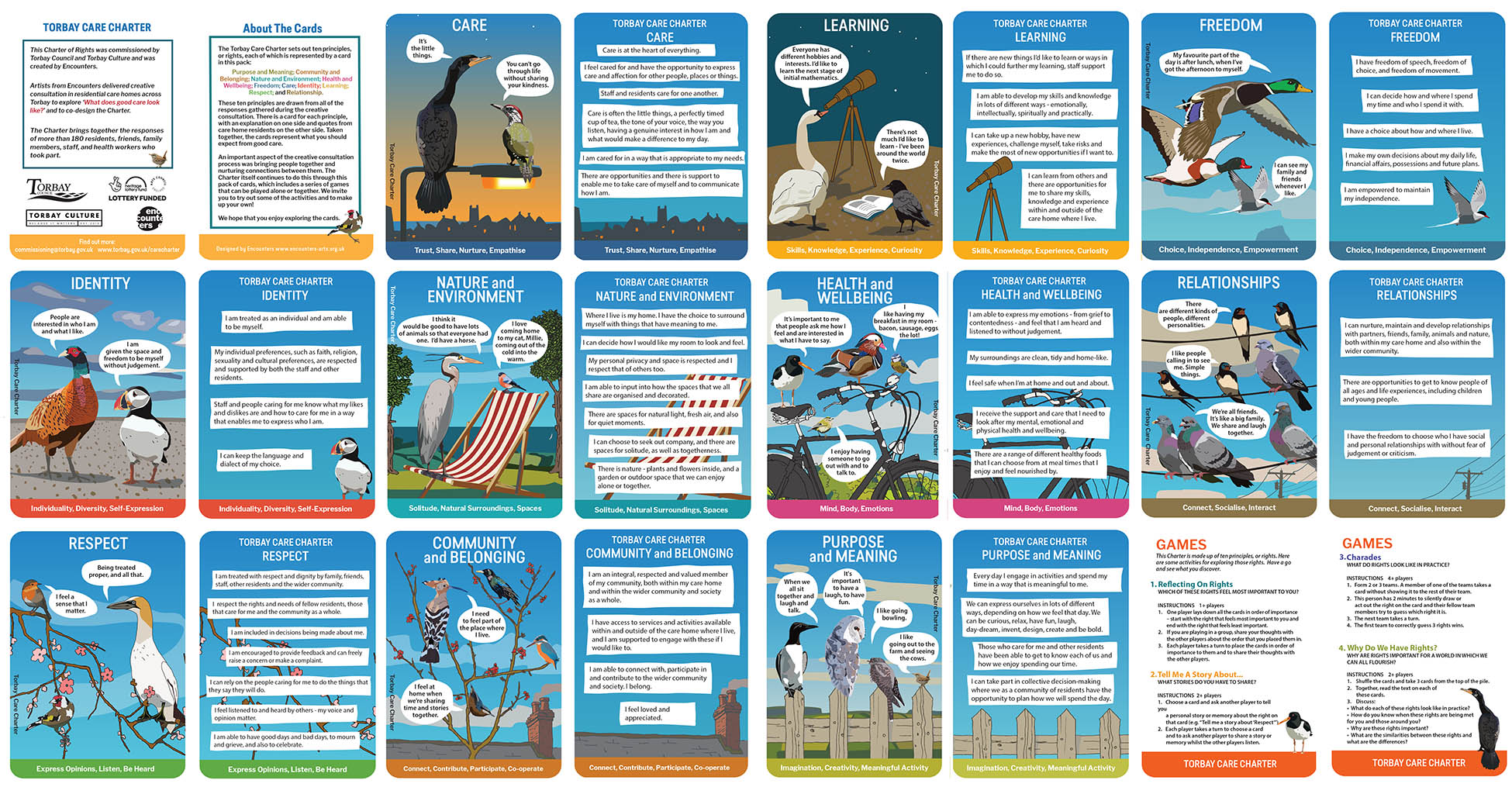 Torbay Care Charter all cards