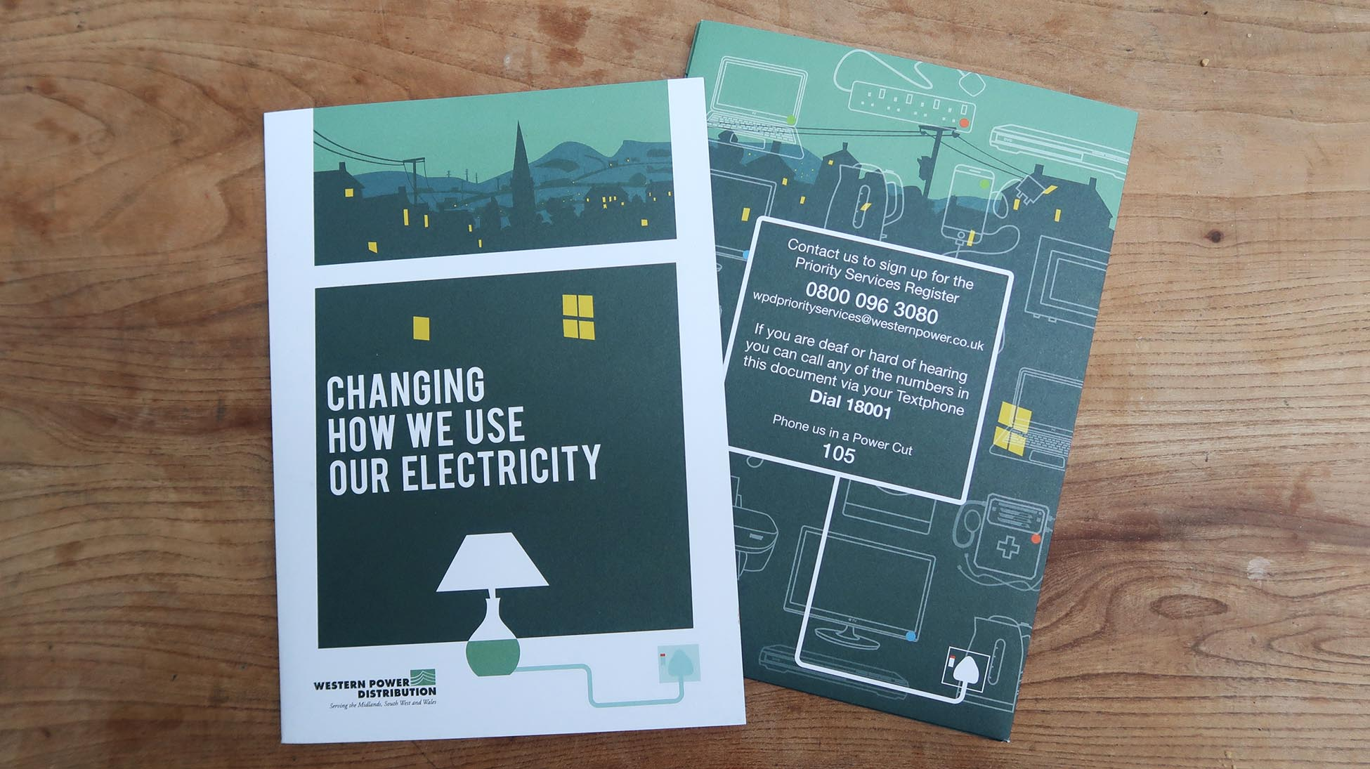 Electricity Use Folder front and back