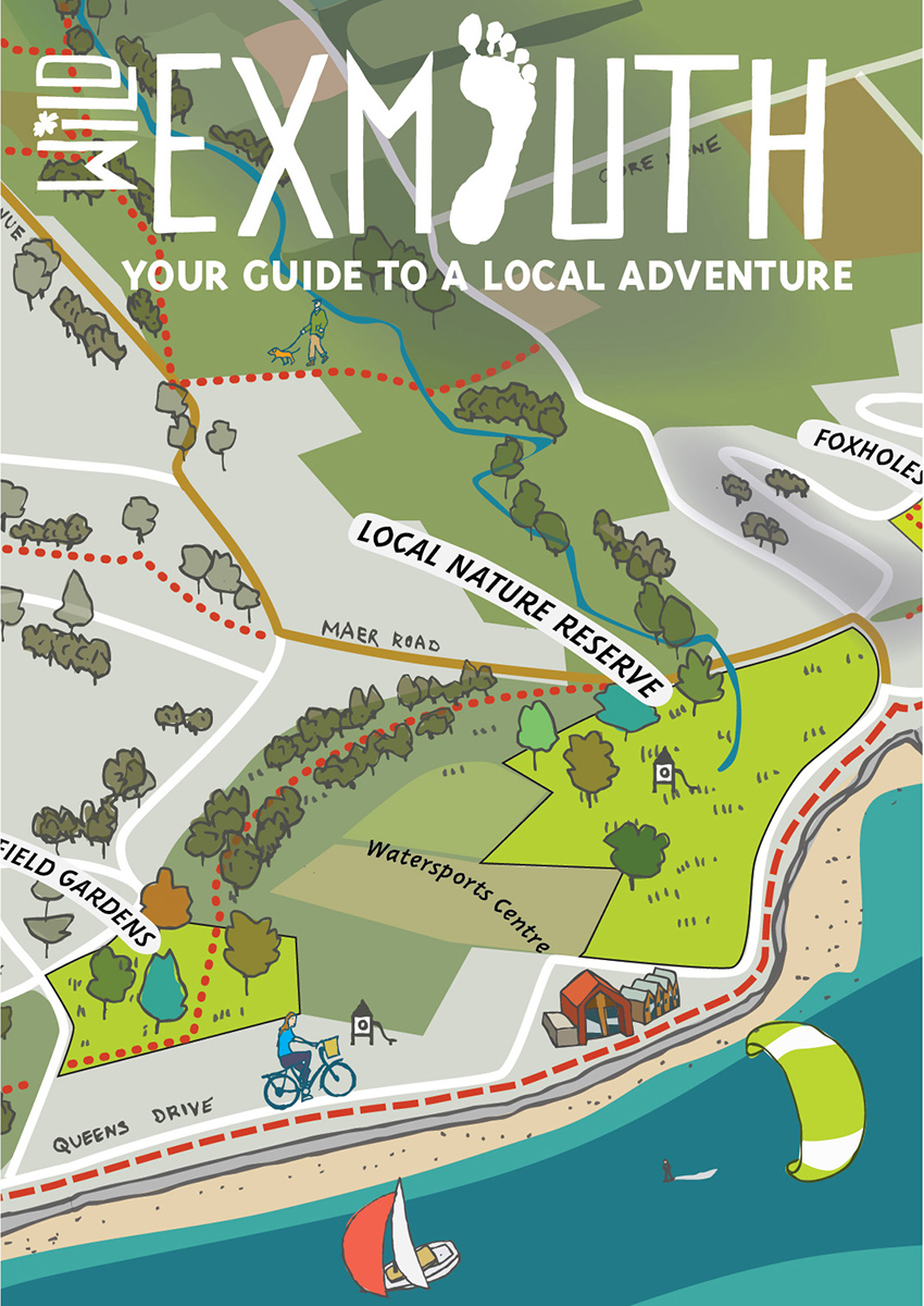 Wild Exmouth Green Spaces Map